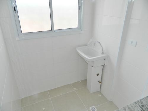 apto 02 dormitórios frente mar, balneário florida(1163)