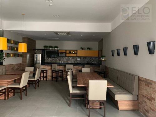 apto 1 suíte para alugar, 66 m² ao lado do sheraton e do shopping praiamar - santos/sp - ap1918