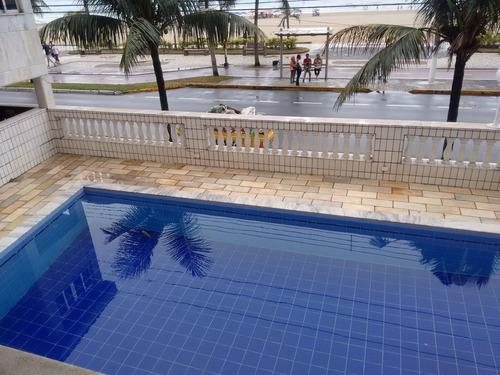 apto 2 qtos,piscina, sl festas/jg frente praia $ 220mil