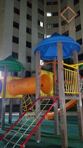 apto 58 m² 2 dormitórios, sala, cozinha, banheiro, área serviço, 1 vaga, play, salão festas, jogos, academia r$ 230.000,00 - ap43142