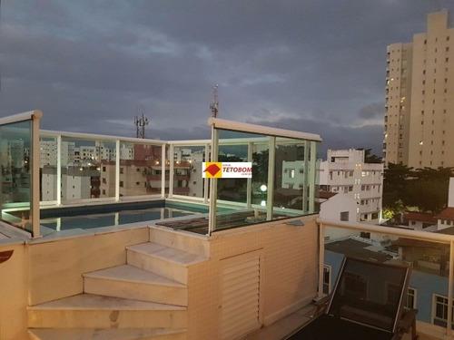 apto. cobertura para venda rio vermelho, salvador 2 dormitórios sendo 2 suítes - tag168 - 3383621