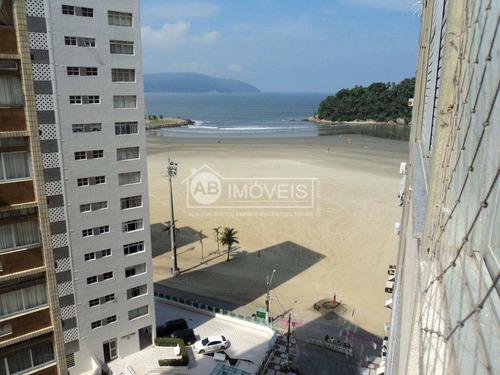 apto com vista praia e mar, com 3 dorms, josé menino, santos - v2911