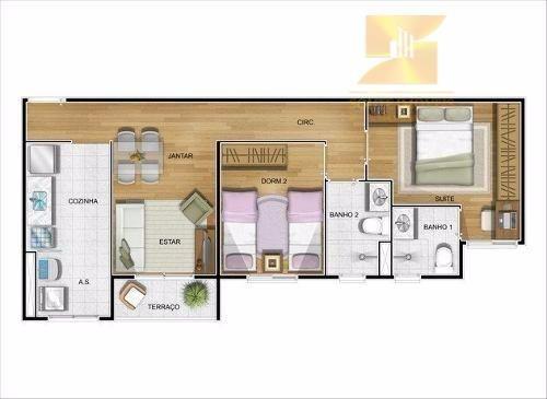 apto condomínio residence - ao lado shopping maia - codigo: ap2763 - ap2763