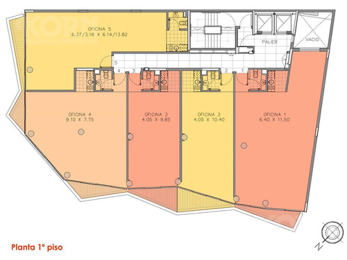 apto credito - venta c/renta, piso de oficinas planta libre en palermo hollywood