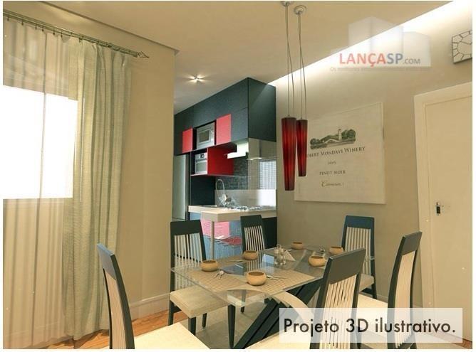 apto de 92m² com 2 dorms no residencial atrium, em santo andré. - ap0554