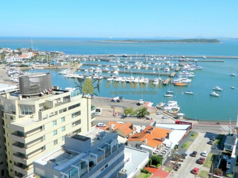 apto en peninsula cuenta con excelente vista al puerto. consulte!!!-ref:2657