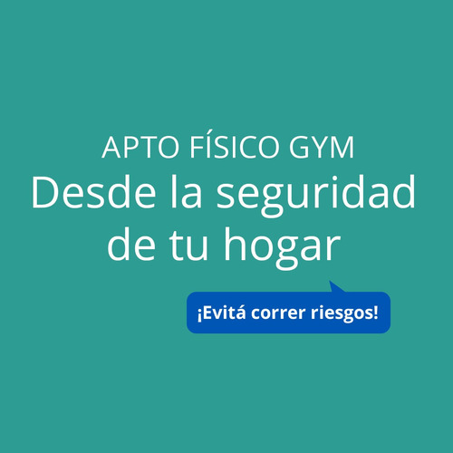 apto físico gym gimnasio a domicilio vittal
