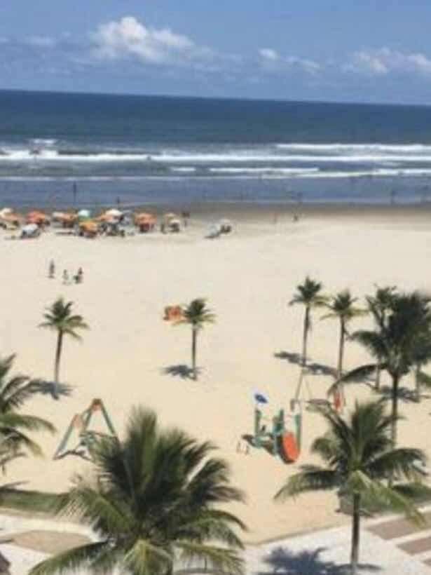 apto. praia grande em frente à praia, completo !!