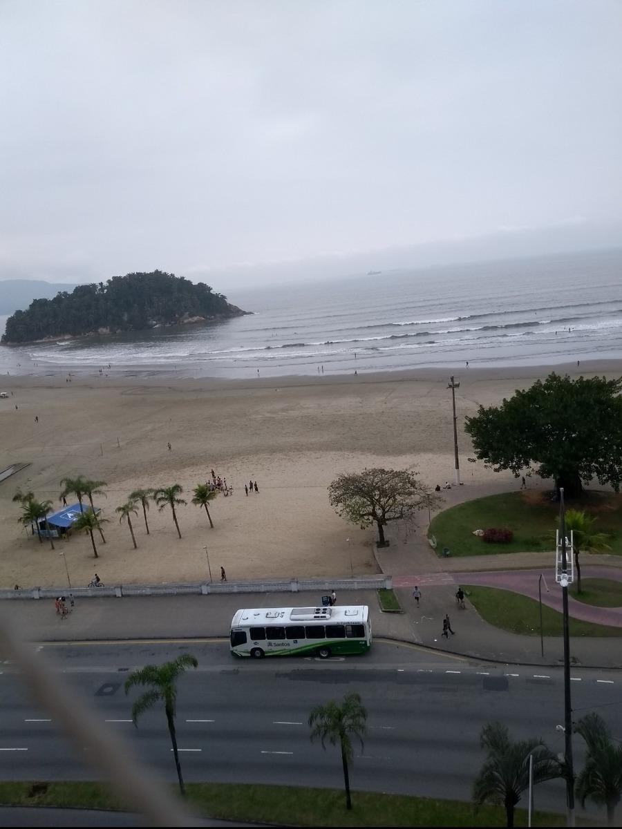 apto.kit, praia josé menino-santos vista para mar , 7º andar