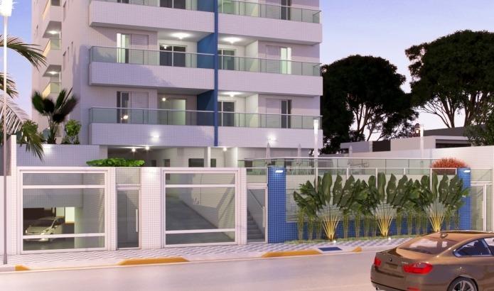 apto,perto da praia,2 quartos,suíte,sala,1 v.de garagem #777
