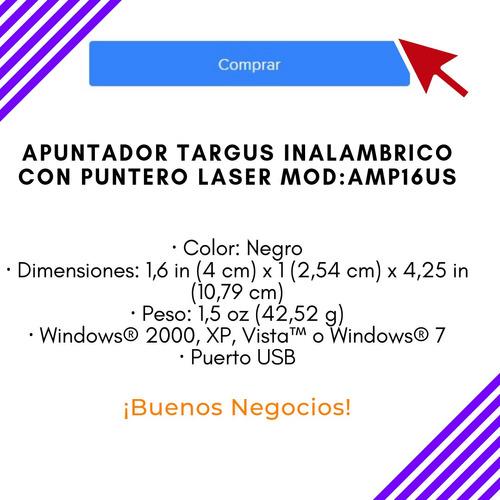 apuntador targus inalambrico con puntero laser mod: amp16us