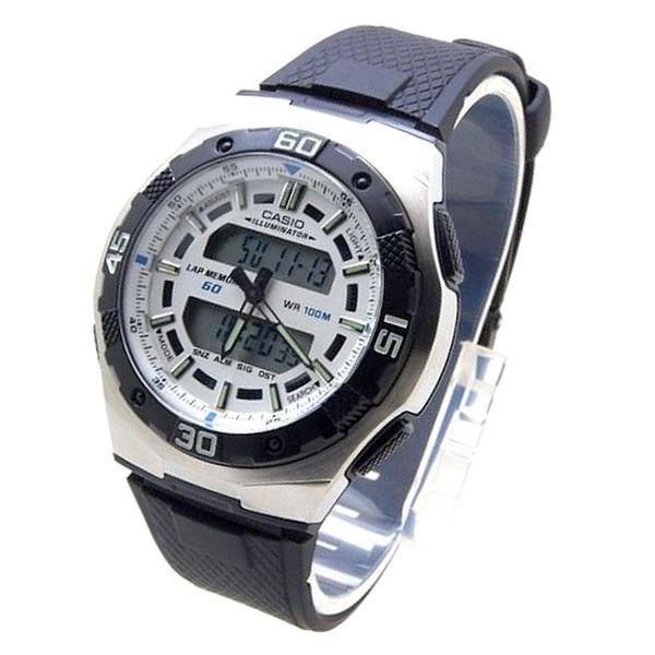 ec9dc6da9bd Aq-164w-7av Relógio Casio Ana-digi Wr100 - 60 Lap Memory - R  274