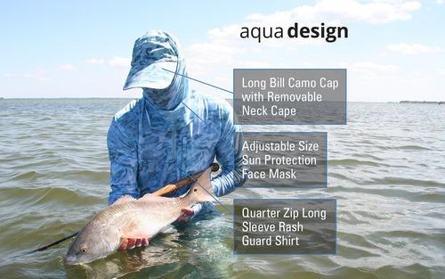 aqua design ajustable tamaño de la pesca de la cara de la ca