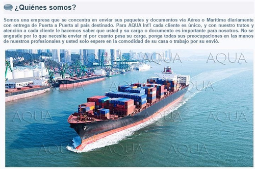 aqua int´l corp. importaciones - compras internet usa, china