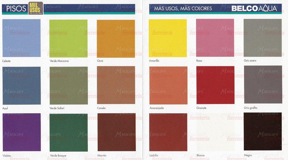 Aqua pisos pintura belco 1 litro todos los colores oferta for Pintura azulejos colores