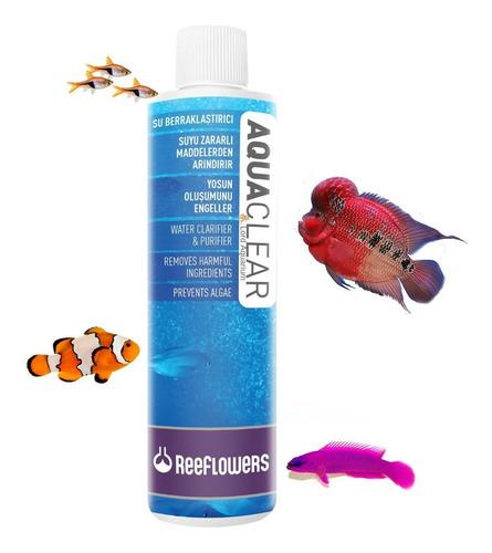 aquaclear 250ml reeflowers clarificante, floculador,algicida