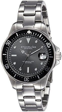 aquadiver cuarzo fecha de acero inoxidable reloj pulsera