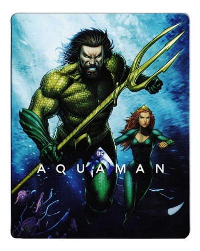 aquaman steelbook dc comics pelicula blu-ray + dvd