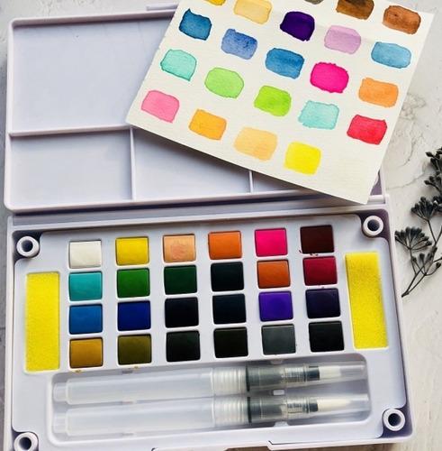 aquarela estojo com 24 cores-solid water color