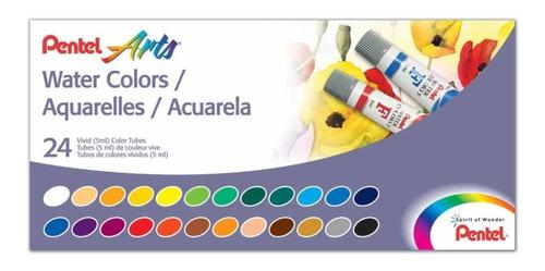aquarela pentel estojo c/24 cores 5ml