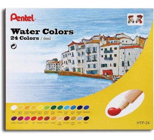 aquarela pentel semi profissional htp 24 cores x 6ml