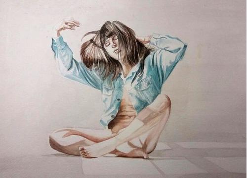 aquarelas realistas e desenhos realistas