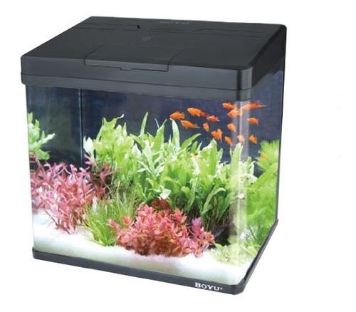aquario completo boyu montado c/ led ms-320 25 l 110v/220v