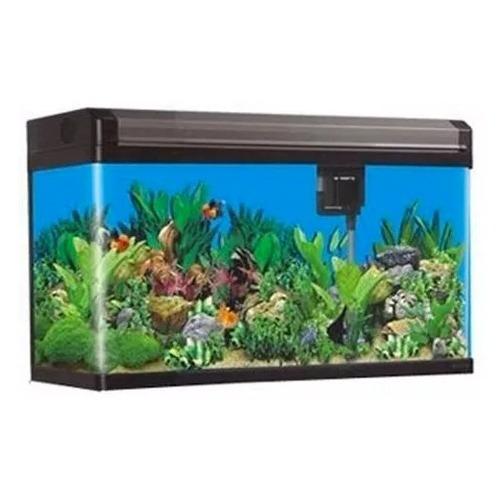 aquario curvo boyu ea-60e 68 litros preto led completo