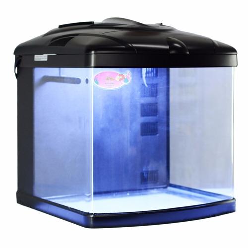 aquário curvo boyu / jad tl-450 zumbo 58l preto 110v marinho