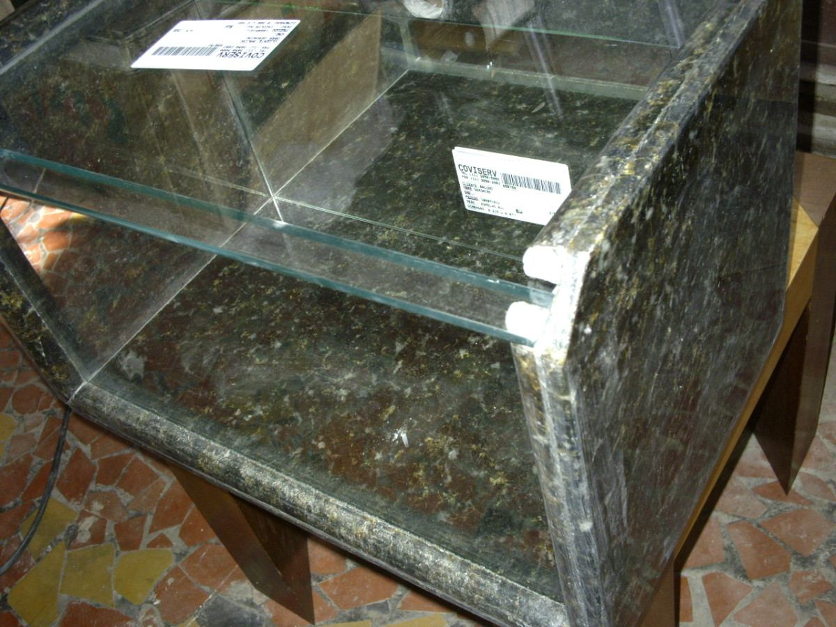 Aparador Inox Madeira ~ Aquario De Mesa Em Granito Verde Ubatuba R$ 120,00 em Mercado Livre