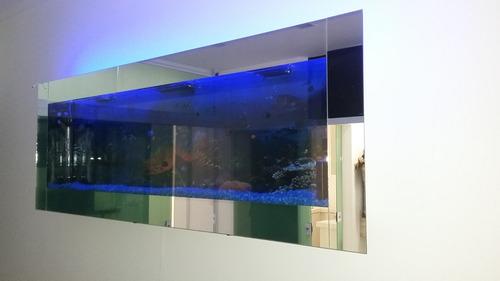 aquario de parede sobrepor  sem acessorios 140x65 com  80 l