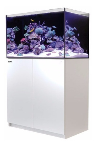 aquário reefer 250 white red sea reef system c/ movel