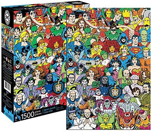 aquarius dc comics retro universe jigsaw puzzle 1500piezas