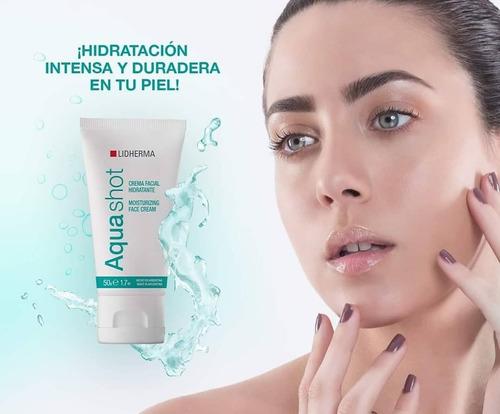 aquashot crema facial hidratante 50g lidherma