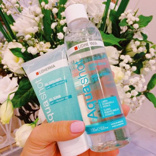 aquashot gel exfoliante 90g lidherma