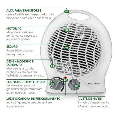aquecedor ambiente 1500w elétrico aquece rápido ar quente