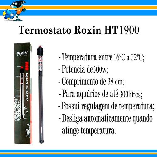 aquecedor com termostato integrado roxin 300w