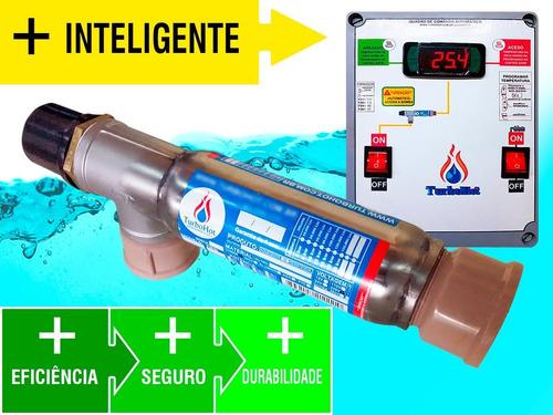 aquecedor de piscina 10.000 lts bivolt + capa 3,5m x 3,5m