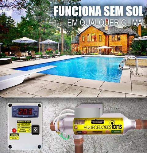 aquecedor de piscina 10.000 trocad ionizad spa banheira clor