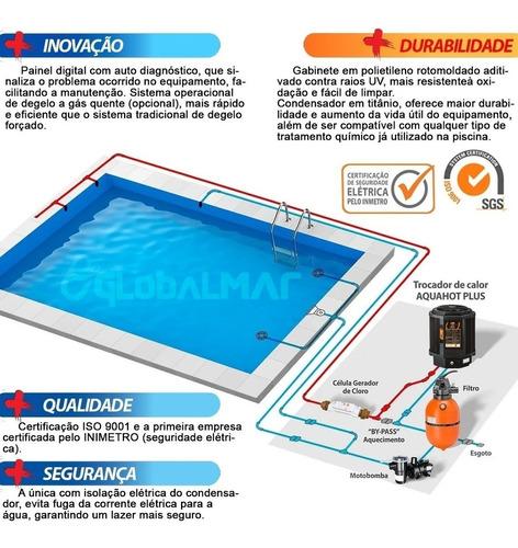 aquecedor de piscina trocador de calor nautilus aquahot aa85