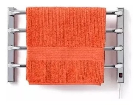 aquecedor de toalhas térmico cromado pequeno para 1 toalha