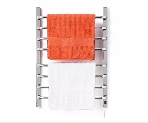 aquecedor de toalhas térmico grande cromado para 2 toalhas