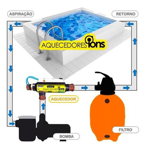 aquecedor para piscina elétrico com timer até 40 mil litros