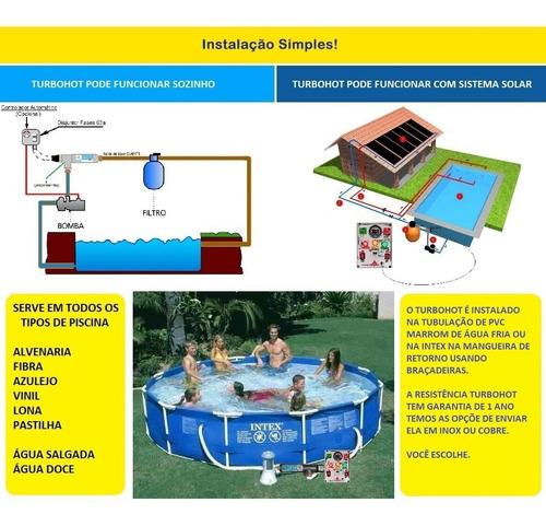 aquecedor piscina 20.000lts inox auto 20m³ bivolt 220v/380v