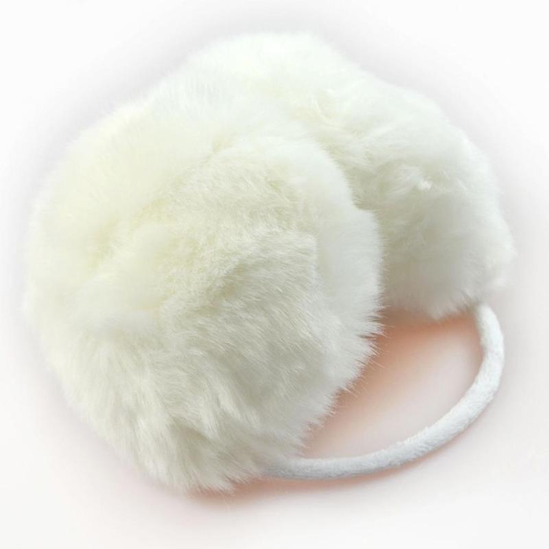 aquecedor protetor de orelha felpudo branco novo luxo. Carregando zoom. b84353c1212