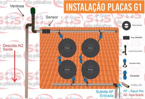 aquecedor solar - placa g1 - para piscinas ate 16.000 litros