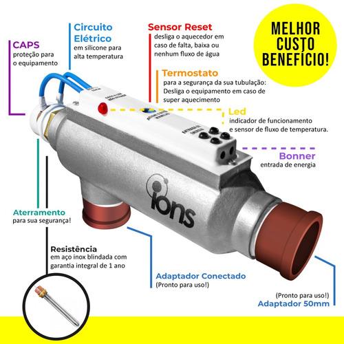 aquecedor trocador piscina 40.000 litros ions manual bivolt