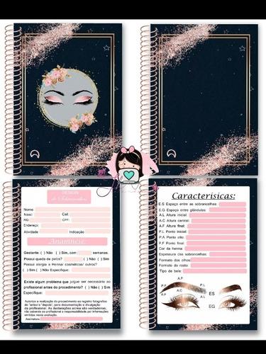 aquivo caderno cadastro do cliente design de sobrancelha