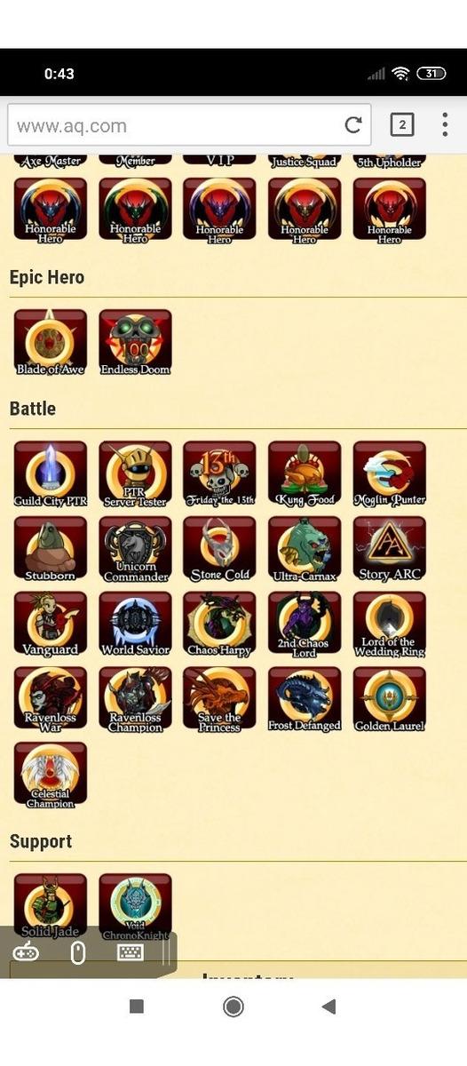 Aqw Adventure Quest World Pego Vhl E Outras Hard Drop Classe