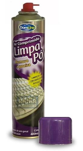 ar comprimido spray aerossol limpa pó remove poeira 3 latas
